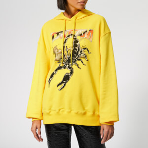 MSGM Women's Scorpio Hooded Top - Yellow