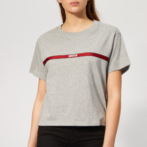Levi's Women's Graphic Varsity T-Shirt - Levi's Text Tape Smokestack HTR