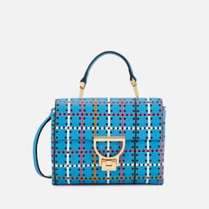 Coccinelle Women's Arlettis Psychedelic Tartan Bag - Blue