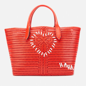 Anya Hindmarch Women's The Neeson Large Heart Calf Leather Tote Bag - Flame Red
