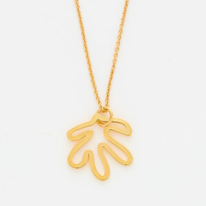 Whistles Women's Abstract Leaf Necklace - Gold