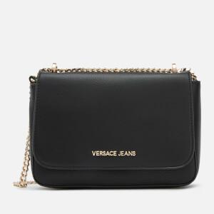 Versace Jeans Women's Shoulder Bag with Charm - Black