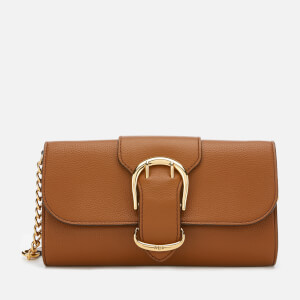 Lauren Ralph Lauren Women's Soft Pebble Leather Clutch Bag - Brown