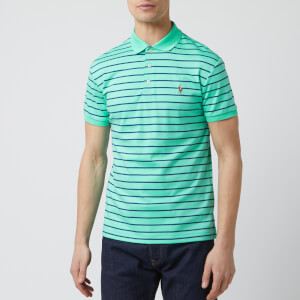 Polo Ralph Lauren Men's Stripe Pima Polo-Shirt - Sunset Green Multi