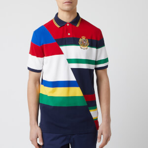 236ee786b Polo Ralph Lauren Men s Newport Crest Pique Polo-Shirt - Cruise Navy Multi