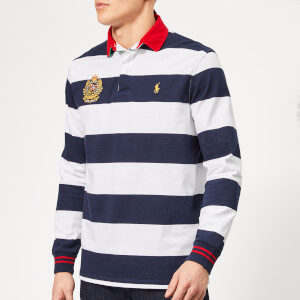 0eebdc37 Polo Ralph Lauren Men's Newport Stripe Crest Rugby Shirt - Cruise Navy/White