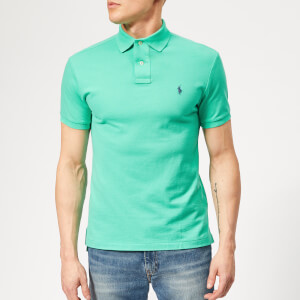 b71608fac6c09a Polo Ralph Lauren Men's Basic Pique Slim Fit Polo Shirt - Sunset Green