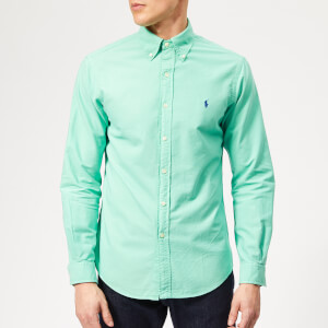 153c53907 Polo Ralph Lauren Men s Garment Dyed Oxford Shirt - Sunset Green