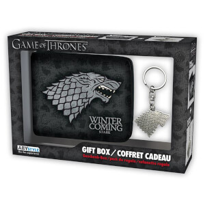 Game of Thrones Stark Wallet and Keyring Set
