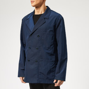 Maison Margiela Men's Double Breasted Coat - Midnight Blue