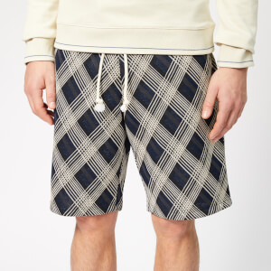 Maison Margiela Men's Jacquard Jersey Shorts - Blue Check