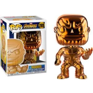 Figura Funko Pop! - Thanos Naranja Cromado EXC - Marvel Vengadores