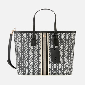 Tory Burch Women's Gemini Link Canvas Small Tote Bag - Black