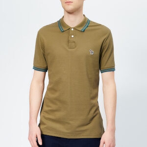 PS Paul Smith Men's Regular Fit Tipped Polo Shirt - Khaki