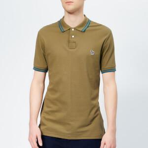 f1c5645b81b PS Paul Smith Men s Regular Fit Tipped Polo Shirt - Khaki