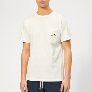 Maison Kitsuné Men's Resting Fox Patch T-Shirt - White