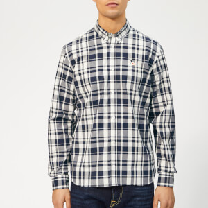 Maison Kitsuné Men's Large Check Classic Shirt - Navy