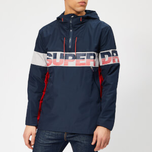Superdry Men's Riley Overhead Logo Jacket - Navy