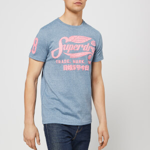 Superdry Men's Racing Series T-Shirt - Washed Denim