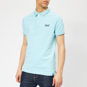 Superdry Men's Poolside Polo Shirt - Spearmint