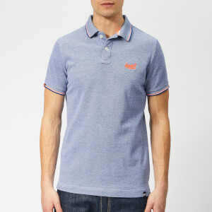 Superdry Men's Classic Poolside Polo Shirt - Cobalt/White