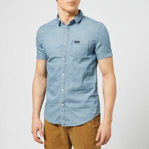 Superdry Men's Miami Loom Shirt - Vintage Blue Wash
