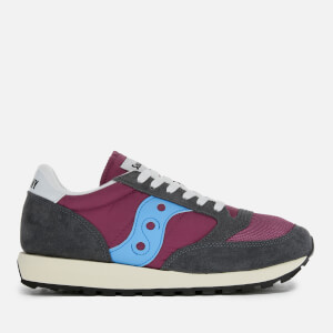 Saucony Men's Jazz Original Vintage Trainers - Purple/Grey/Blue