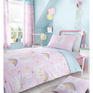 Catherine Lansfield Llama-Corn Easy Care Duvet Set - Pink