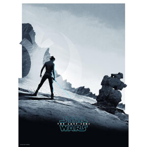 "Star Wars The Last Jedi ""Rey"" 18x24 Screenprint by Matt Ferguson - Zavvi UK Exclusive"
