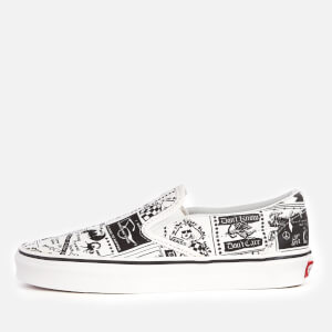 Vans X Ashley Williams Women's Classic Slip-On Trainers - Newspaper/True White