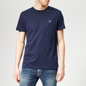 GANT Men's Original Short Sleeve T-Shirt - Evening Blue