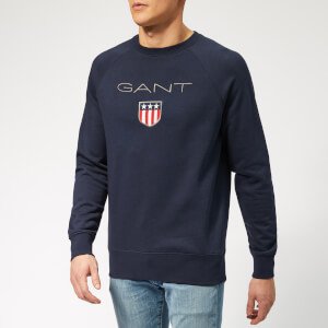 GANT Men's GANT Shield C-Neck Sweat - Evening Blue