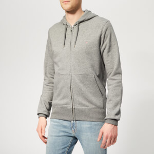 GANT Men's The Original Full Zip Hoodie - Dark Grey Melange