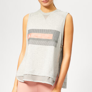 adidas by Stella McCartney Women's Logo Tank Top - Medium Grey Heather