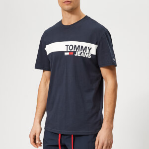 Tommy Jeans Men's Essential Box Logo T-Shirt - Navy