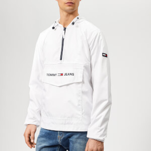 Tommy Jeans Men's Nylon Pop Over Jacket - Classic White