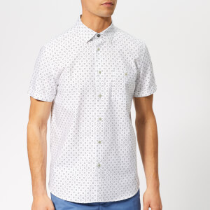 Ted Baker Men's Polarbe Short Sleeve Shirt - White