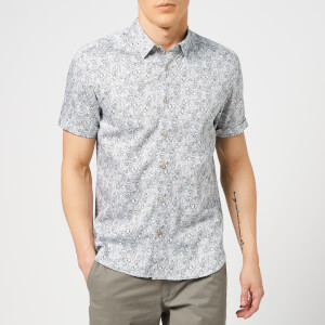 Ted Baker Men's Buffilo Short Sleeve Shirt - Light Blue