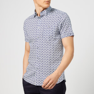 Ted Baker Men's Petalz Short Sleeve Shirt - Blue