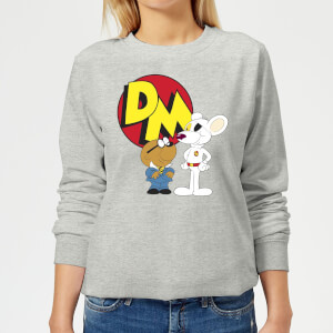 Danger Mouse DM And Penfold Women's Sweatshirt - Grey