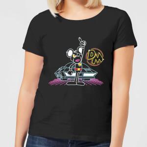 Danger Mouse 80's Neon Damen T-Shirt - Schwarz