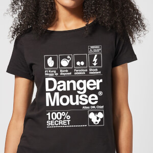 Danger Mouse 100% Secret Women's T-Shirt - Black