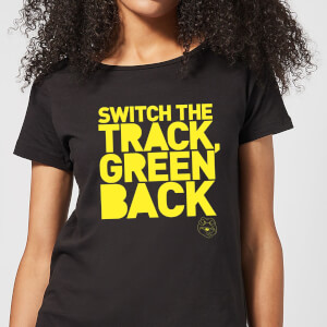 Danger Mouse Switch The Track Green Back Women's T-Shirt - Black