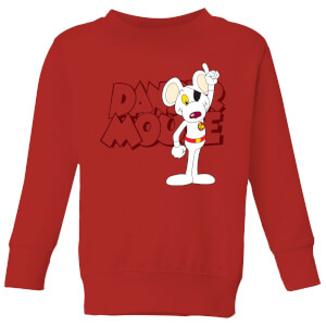 Danger Mouse Pose Kinder Sweatshirt - Rot