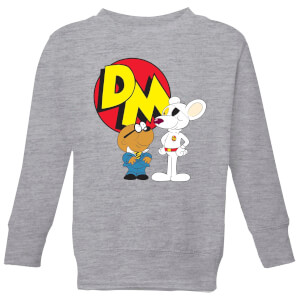 Danger Mouse DM And Penfold Kids' Sweatshirt - Grey