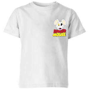 Danger Mouse Pocket Logo Kinder T-Shirt - Weiß