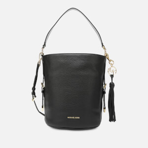 MICHAEL MICHAEL KORS Women's Brooke Medium Bucket Messenger Bag - Black