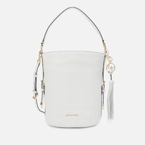 MICHAEL MICHAEL KORS Women's Brooke Medium Bucket Messenger Bag - Optic White