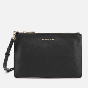 MICHAEL MICHAEL KORS Women's Crossbodies Large Double Pouch Cross Body Bag - Black