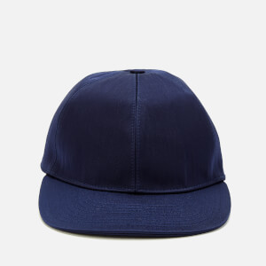 Lanvin Men's Satin Logo Cap - Blue